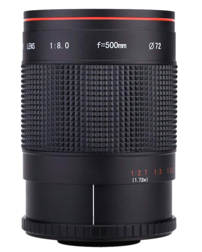 Andoer 500mm f/8 mirror lens